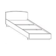 Кровать односпальная ЛДСП 200*100