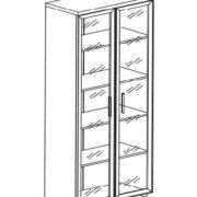 Шкаф для сувениров 77*38*197