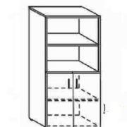 Шкаф низкий п/открытый 80*40*162