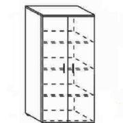 Шкаф низкий закрытый 80*40*162