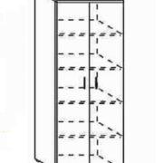 Шкаф высокий закрытый 80*40*200