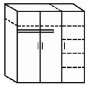 Шкаф для одежды комбиниров 120*52*200