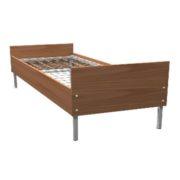 Кровать односпальная металл/ЛДСП 190*80