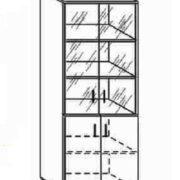 Шкаф высокий со стеклом 80*40*200